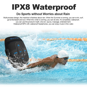 Image 5 - IPX8 Waterproof MP3 Player Portable Loseless 8GB Music Player with Headphones Clip Design For Swimming Running Diving Sport New