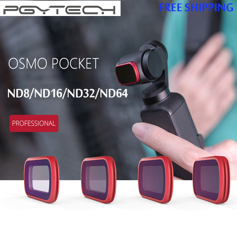 New PGYTECH ND Professional Filter Set ND8 ND16 ND32 ND64 Camera Lens Filters For DJI OSMO