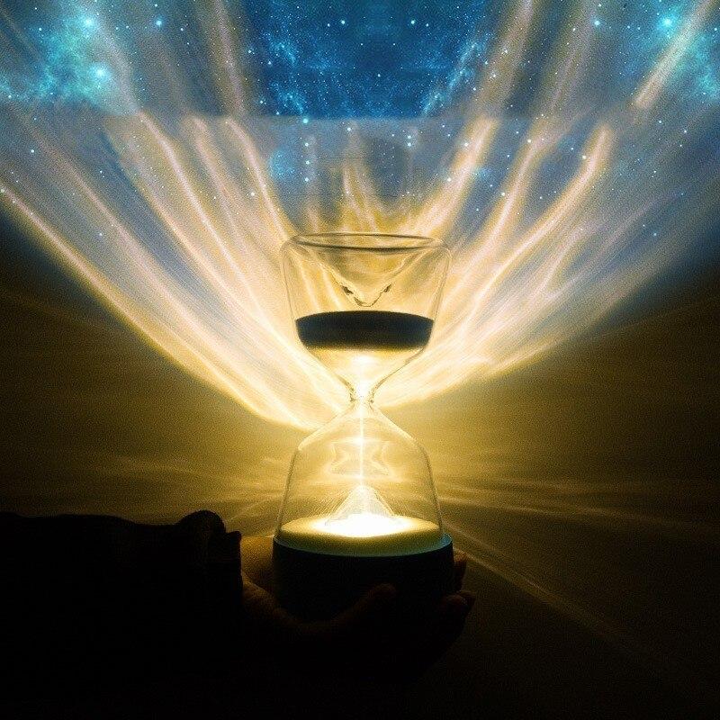 New LED Sleep Night Light Unique Hourglass Table Lamp Originality Vision Decoration Lamp Sandglass Night Lamp Party Decor Gift