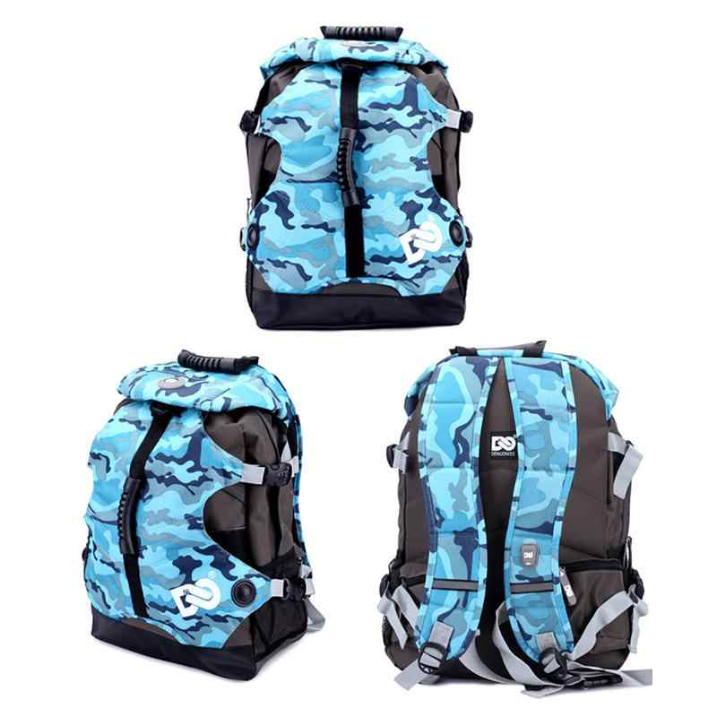 Roller Skates Bag Fashion Camouflage Roller Bag Ice Skates Backpack Outdoor Sport Supplies 20-35L Canvas Bag Skating Accessories
