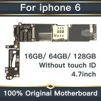 For iPhone 6 4.7inch Motherboard Unlock Mainboard Without Touch ID Full Function 100% Original IOS Installed Logic Board
