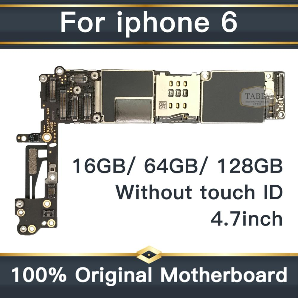 For iPhone 6 4 7inch Motherboard Unlock Mainboard Without Touch ID Full Function 100 Original IOS