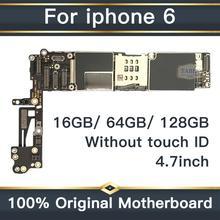 Для iPhone 6 4,7 дюймов материнская плата разблокированная системная плата без Touch ID полный функция 100% оригинал IOS установлен материнскую плату