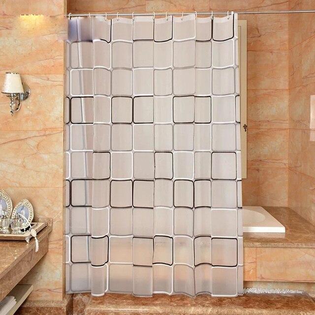 La tenda della doccia bagno porta del bagno a scacchi PEVA Ambientale tenda tend