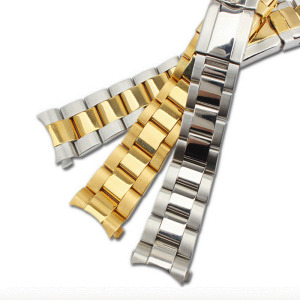Image 3 - Stainless steel strap mens watch accessories17mm20mm for Rolex Daytona series arc mouth waterproof steel strap women watch band