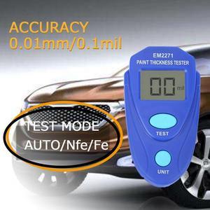 Image 2 - Przenośny mini cyfrowy przyrząd do malowania samochodu LCD przyrząd do pomiaru grubości Auto farba powłoka Film miernik grubości cynku narzędzia testowe