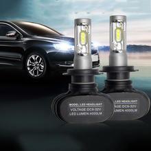 1 шт. Автомобильные светодиодные фары H7 H13 H4 светодиодные автомобильные лампы 6500K водонепроницаемые CSP чипы 50 Вт 8000лм безвентиляторные H1 H4 H8 H11 противотуманные фары