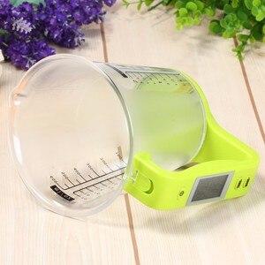 Image 3 - Copo de medição escalas de cozinha digital beaker libra ferramenta eletrônica escala com display lcd temperatura