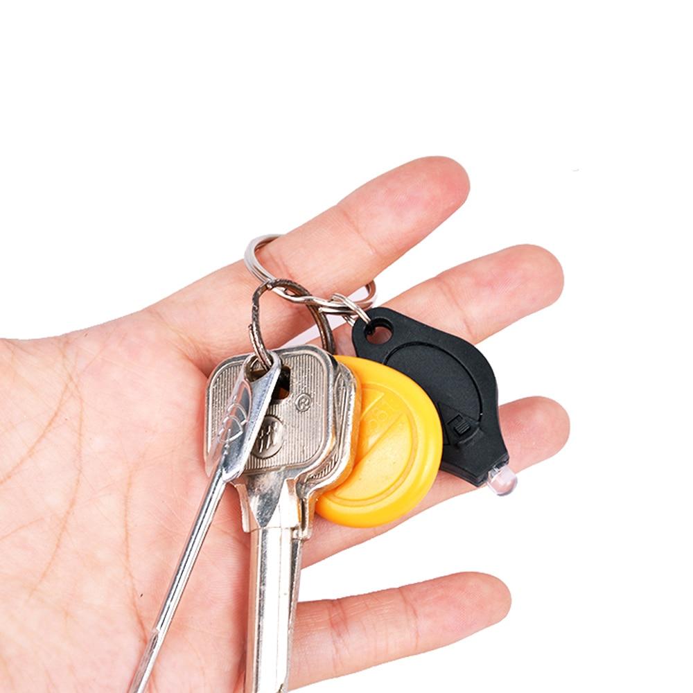 Мини светодиодный брелок флэш-светильник переносной УФ-светильник фонарь с крюком для прогулок кемпинга(5 шт случайный цвет+ фиолетовый светильник
