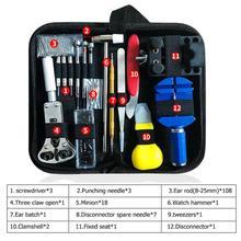 9b05121b4875 147 piezas reloj Kit de herramienta de la reparación de la ver enlace Pin  Remover del abridor caso primavera Bar removedor de Ho.