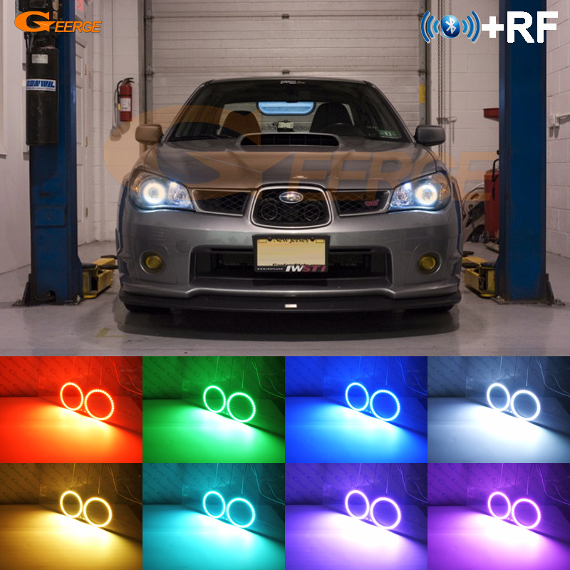 For Subaru Impreza 2006 2007 Excellent RF Bluetooth Controller Multi Color Ultra bright RGB LED Angel