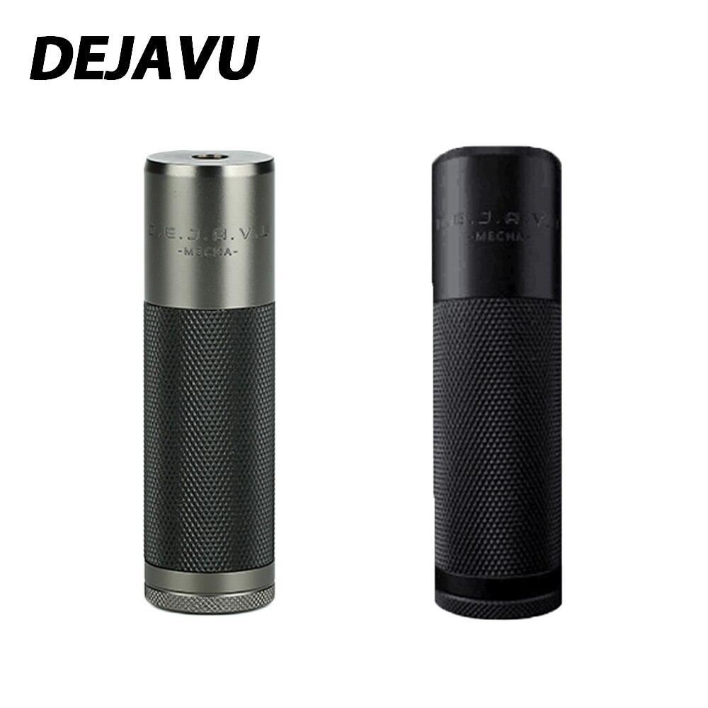Nouveau DEJAVU DJV Mech MOD puissance par 18650 batterie Portable Mech Mod E-cigarette Vaping Mods avec bobine cantée et système hybride