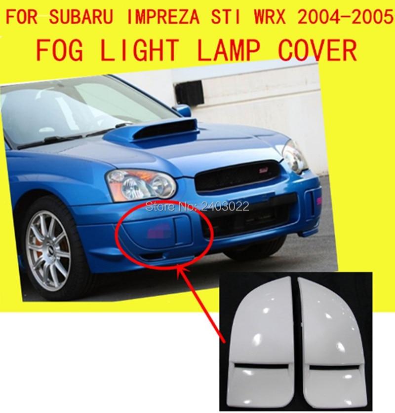 Bumpers Front Fog Light Covers Lamp Trims Caps Panels For Subaru Impreza St1 Wrx 2004-2005 Pp Unpainted 2pcs/set Car Styling Drip-Dry Exterior Parts