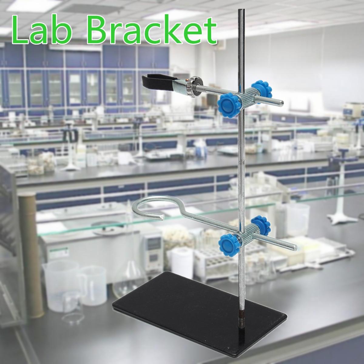 1 pc 30 cm Hohe Retorte StandIron Stehen Mit Clamp Clip Lab Ring Stehen Ausrüstung 15x8,5 cm Schule labor Bildung Liefert