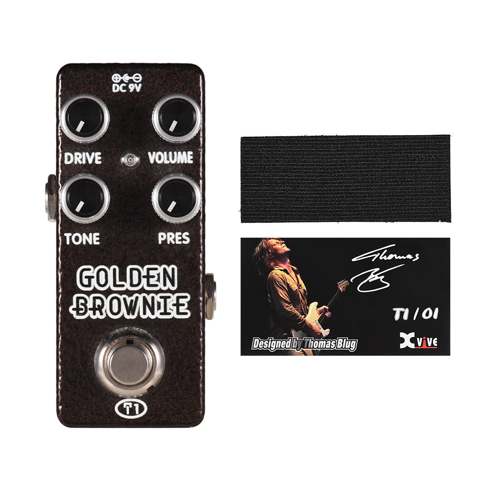 XVIVE T1 GOLDEN BROWNIE Guitar Pedal Distortion Guitar Effect Pedal Full Metal Shell True Bypass Guitar