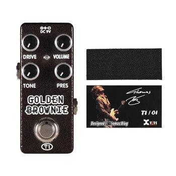 XVIVE T1 Золотой коричневый педаль для гитары с искажением педаль для гитары с эффектом металлический корпус настоящий обход гитарные Запчасти и аксессуары