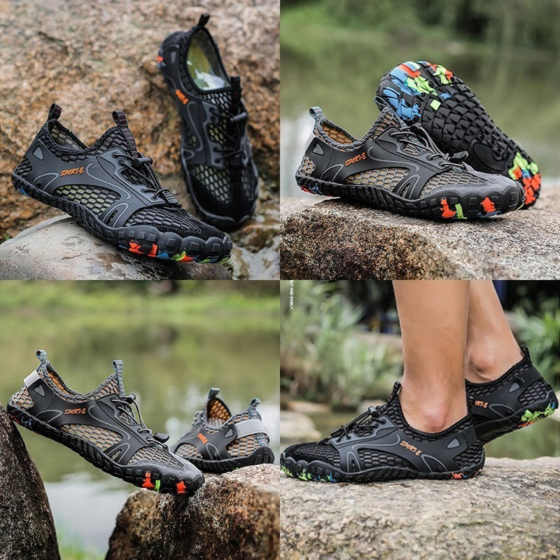 Image 4 - VEAMORS Outdoor Sneakers Non slip Hiking Shoes For Men Women Walking Trekking Sneakers Unisex Breathable Mesh Upstream ShoesHiking Shoes   -