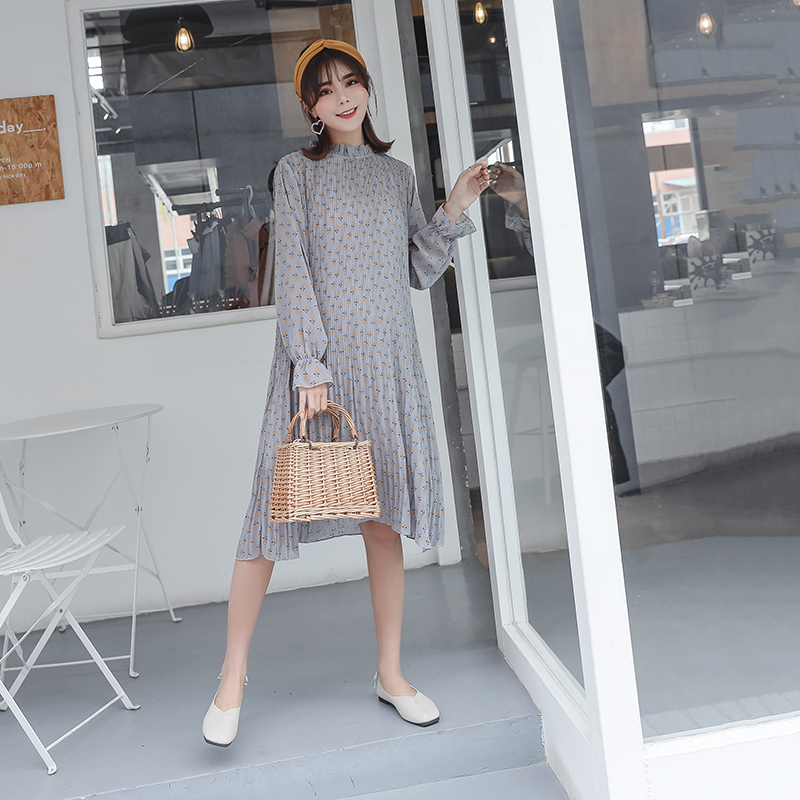 2dea933201c Aliexpress.com   Buy Pengpious 2019 spring long lantern sleeve maternity  fashionable floral chiffon dress plus size pregnant women printed dress  nice from ...