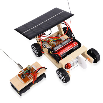 Assembly RC Toys DIY Mini Wooden Car