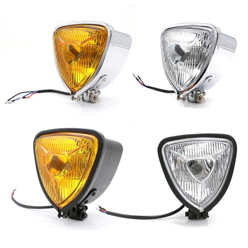 Adaptés pour La Modernisation Phares de Harley Moto Triangle En Métal Avant Éclairage Phare Générale Repose Projecteur