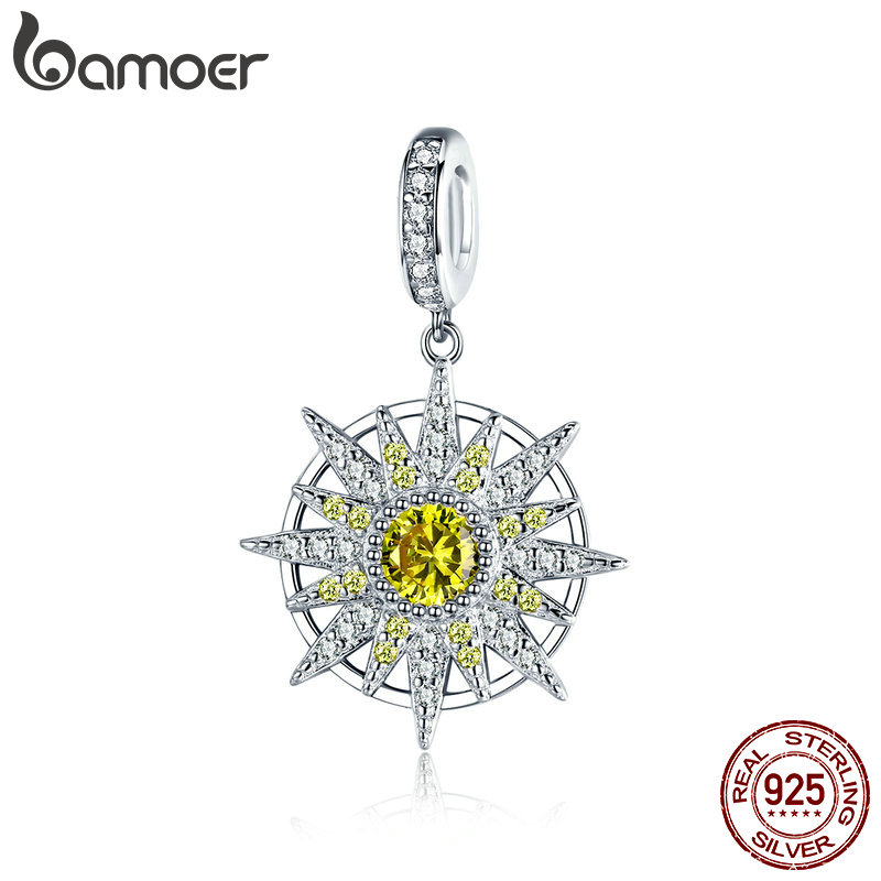 BAMOER 925 Sterling Silver Geometric Charms Clear Cubic Zircon Pendant fit Women Bracelets & Necklaces Silver Jewelry BSC066BAMOER 925 Sterling Silver Geometric Charms Clear Cubic Zircon Pendant fit Women Bracelets & Necklaces Silver Jewelry BSC066