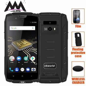VKworld VK7000 Waterproof shockproof Mobile Phone 5600mAh wireless charge Android 8.0 4GB+64GB Octa Core Smartphone 5.2 Phones