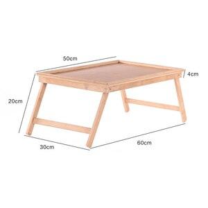 Image 5 - Multifunktions Tragbare Bambus Bett Laptop Schreibtisch Faltbare Portion Tisch wohnzimmer tisch für Tee Studie Frühstück