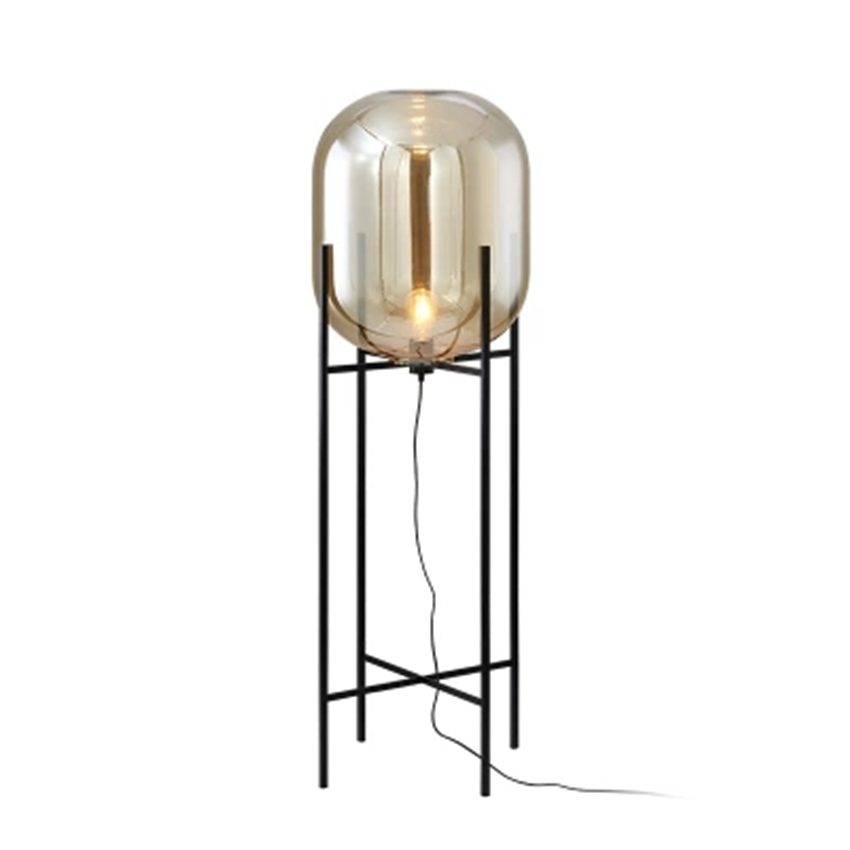 Lumière de plancher LED en verre nordique éclairage lampe sur pied lampes sur pied salon chambre Restaurant lampadaires luminaires de cuisine