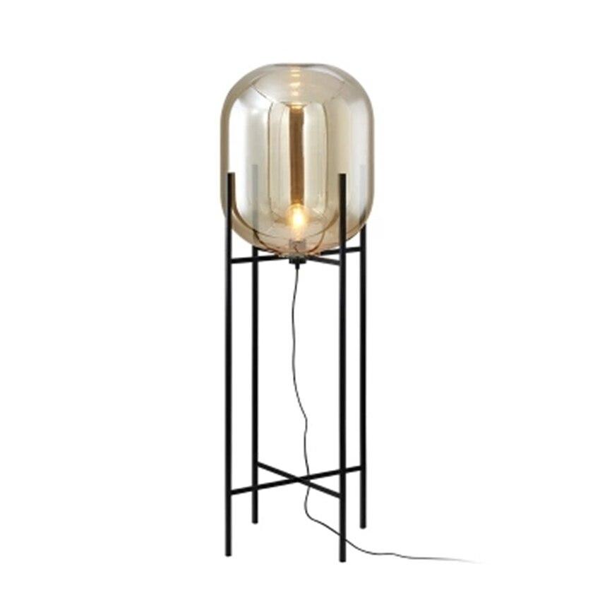 Nordic Glass LED Floor Light Lighting Standing Lamp Standing Lights Living Room Bedroom Restaurant Floor Lamps Kitchen Fixtures in Floor Lamps from Lights Lighting