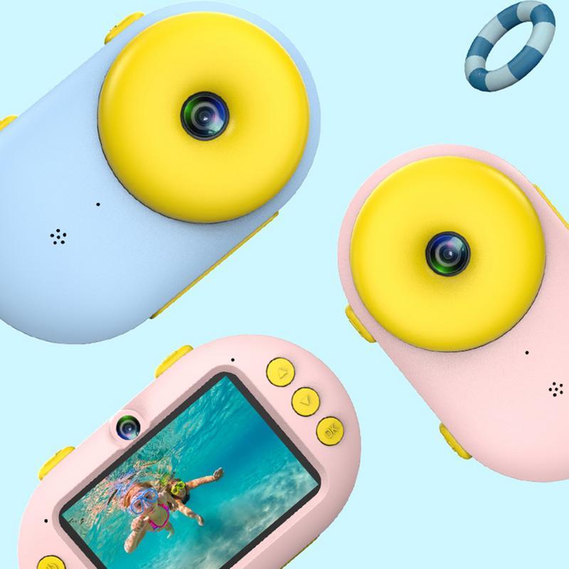 Appareil photo numérique en forme de beignet de sport pour enfants avec écran LCD étanche 3 M résolution HD Zoom Flash caméra de plongée pour enfants - 6