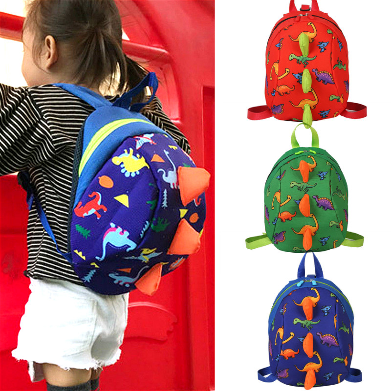 Baby Kids Cartoon Dinosaur Backpack Kindergarten School Bags Nursery Rucksack Toddler Walking Safety Harness Bags