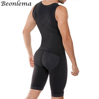 Beonlema Body Modeling Men Bodysuit Stretchy Shapewear Butt Lifting Sexy Shaper Hombre Solid Bodyshaper Homme Posture Bodysuit