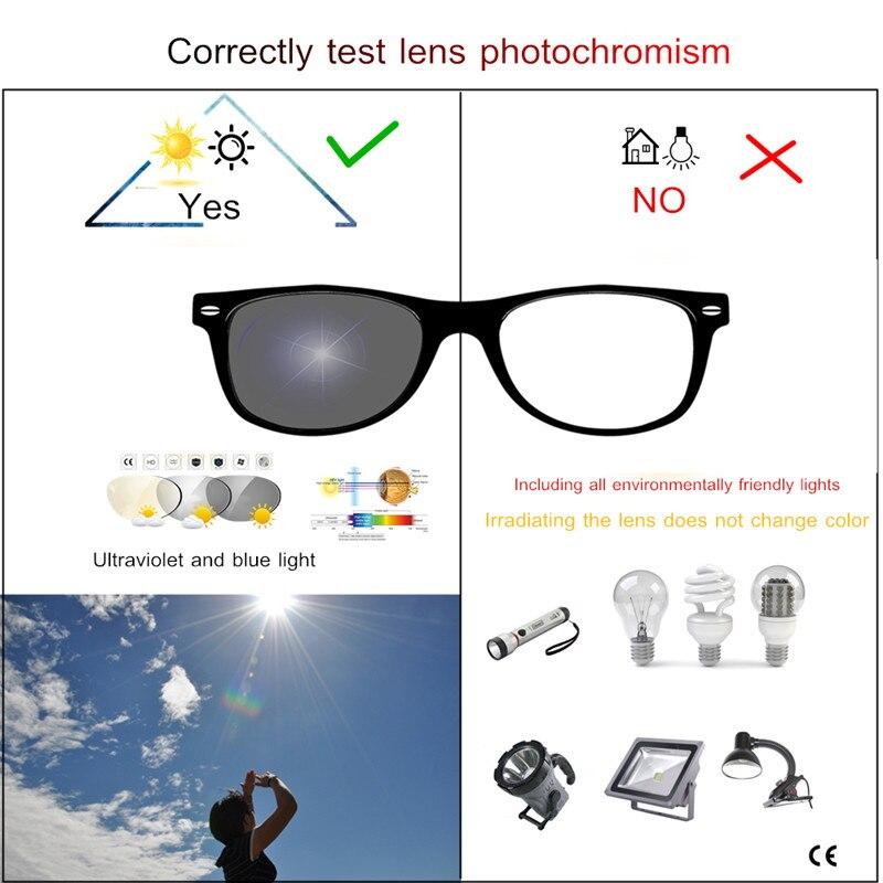 Image 2 - Myopia Sunglasses Finished Men Women Myopia Eyeglasses Frame with CR39 Sun Photochromism gray lens prescription Myopia Eyewear-in Men's Eyewear Frames from Apparel Accessories