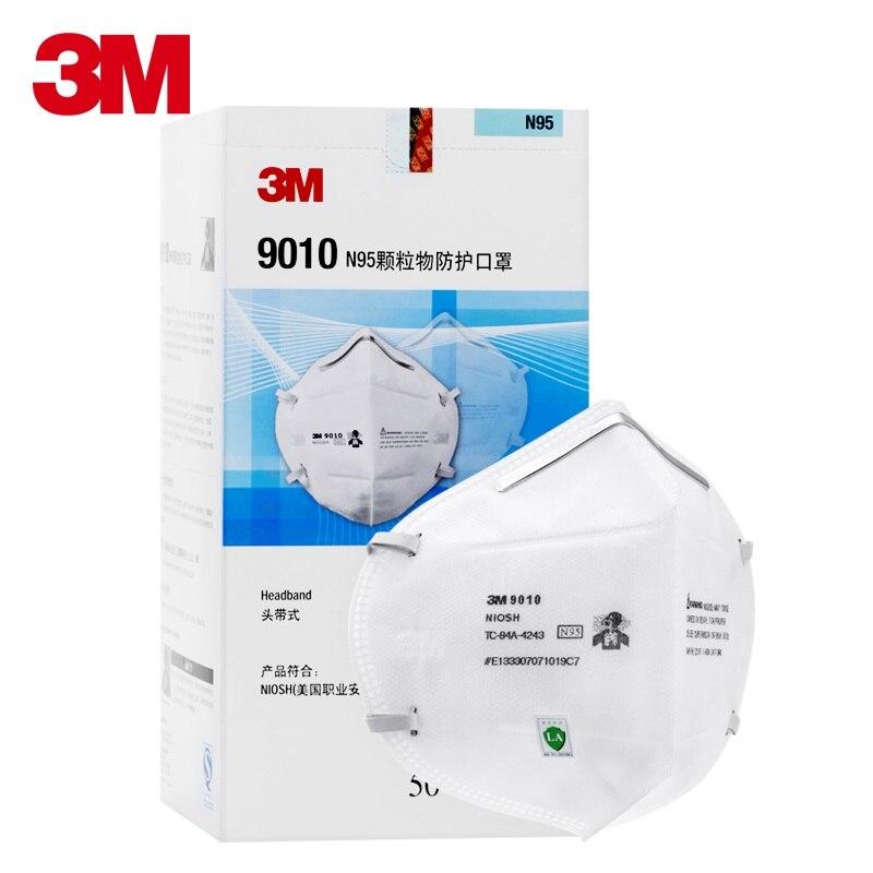50 pçs/caixa 3 M 9010 N95 Dobra de Proteção Máscaras Anti Poeira Gripe H1N1 PM 2.5 Multi Camada de Estrutura do Filtro Industrial ambiente de nevoeiro