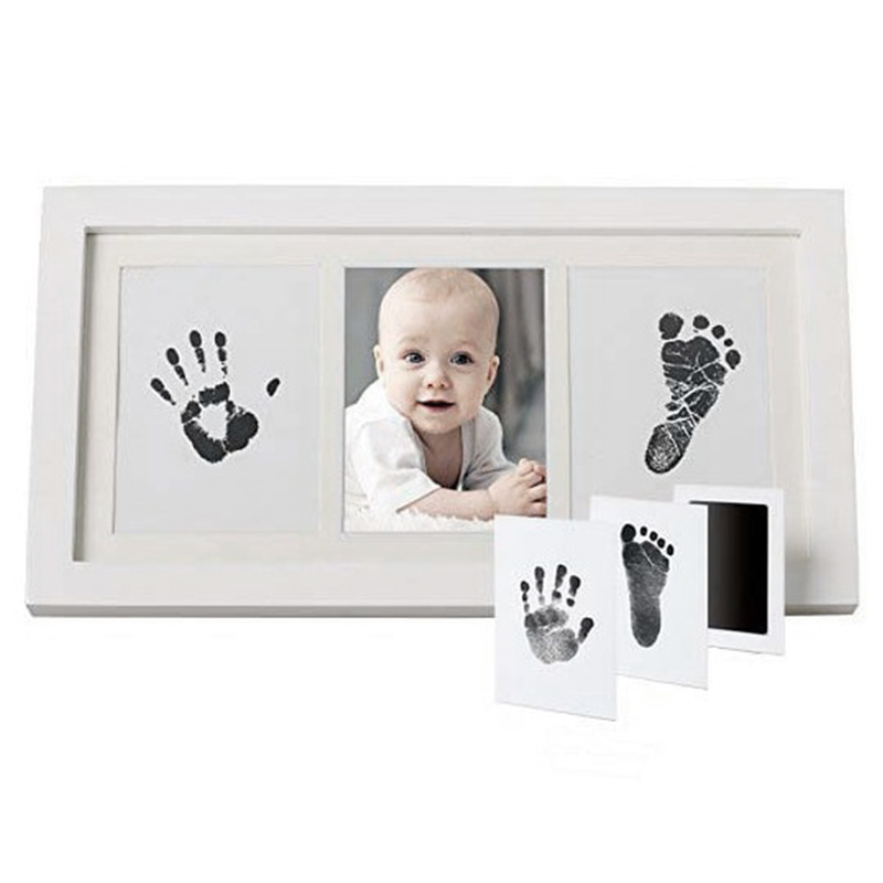 Baby Care Non-Toxic Baby Handprint Footprint Imprint Kit Casting Parent-Child Hand Inkpad Fingerprint Watermark Infant Toys