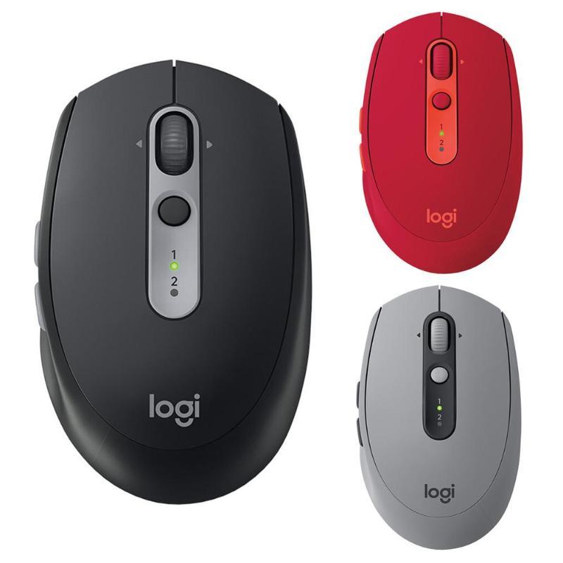 Logite M590 muet 2.4GHz souris sans fil Bluetooth double connectivité défilement Ultra-précis 1000DPI 7 boutons optique silencieux