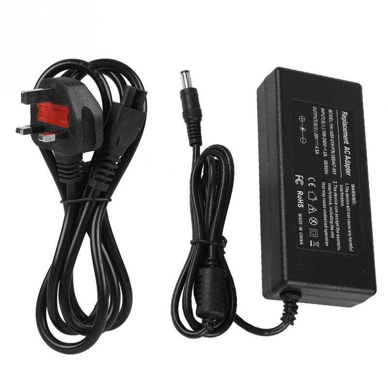 90W 20V 4.5A AC DC Power Supply Adapter Laptop Charger 5.52.5mm for Lenovo 100-240V Black