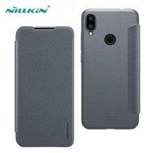 Nillkin Redmi Note 7 Pro Note 7S Kılıf Sparkle Lüks Flip Deri arka kapak Nilkin xiaomi için telefon Xiaomi Redmi Note 7 çapa