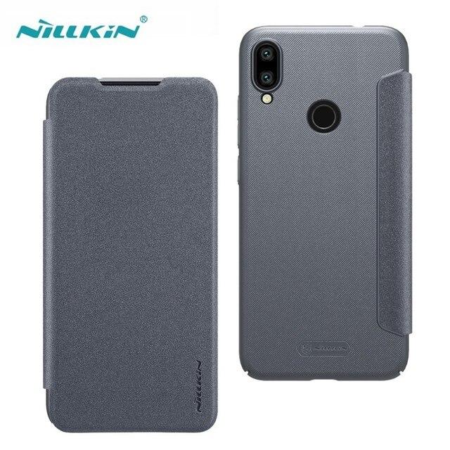 Nillkin Redmi Note 7 Pro Note 7S ケーススパークルシリーズ高級フリップレザーバックカバー Nilkin 電話ケース Xiaomi Redmi Note 7 キャパ