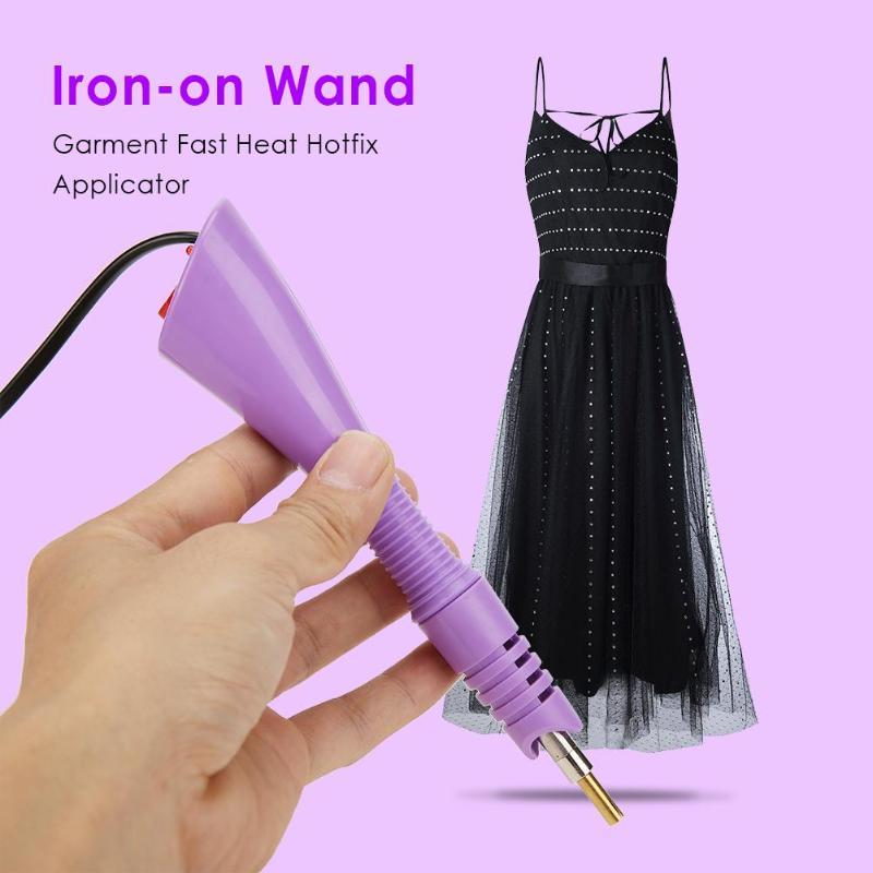 Fast Heated Iron-on Wand Heat-fix Tool Garment Fast Heat Hotfix Applicator