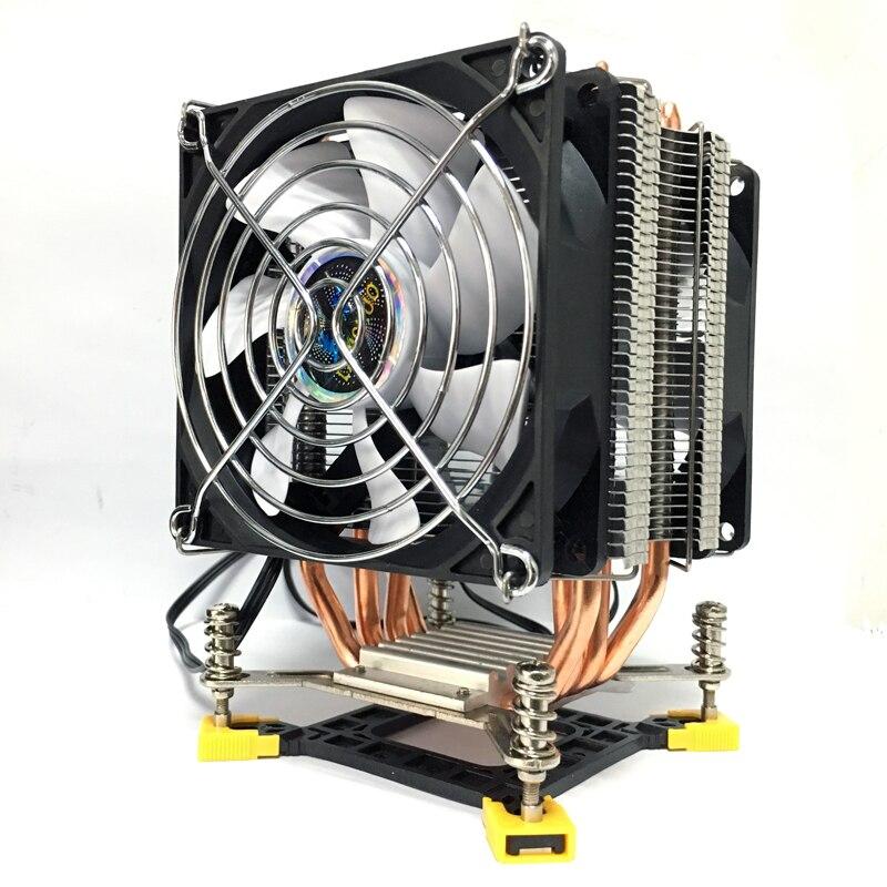 LANSHUO 4 procesador térmico refrigerador TDP 160 W, 90mm ventilador de CPU radiador de aluminio para lga/1150/1151 /1155/1156/1366 ventilador de refrigeración