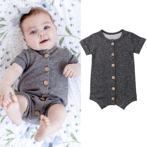 New Newborn Toddler Infant Baby Boys Girl Casual   Romper   Jumpsuit Cotton Short Sleeve Clothes Summer Sunsuit Outfits