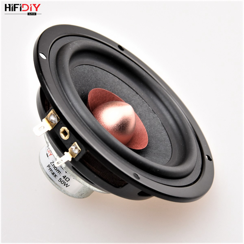 HIFIDIY LIVE Hi-Fi 4.5 INCH DIY Full Frequency Speaker Unit 4 8OHM 50W Neodymium Magnetic High Alto Bass Loudspeaker QF4-116NS