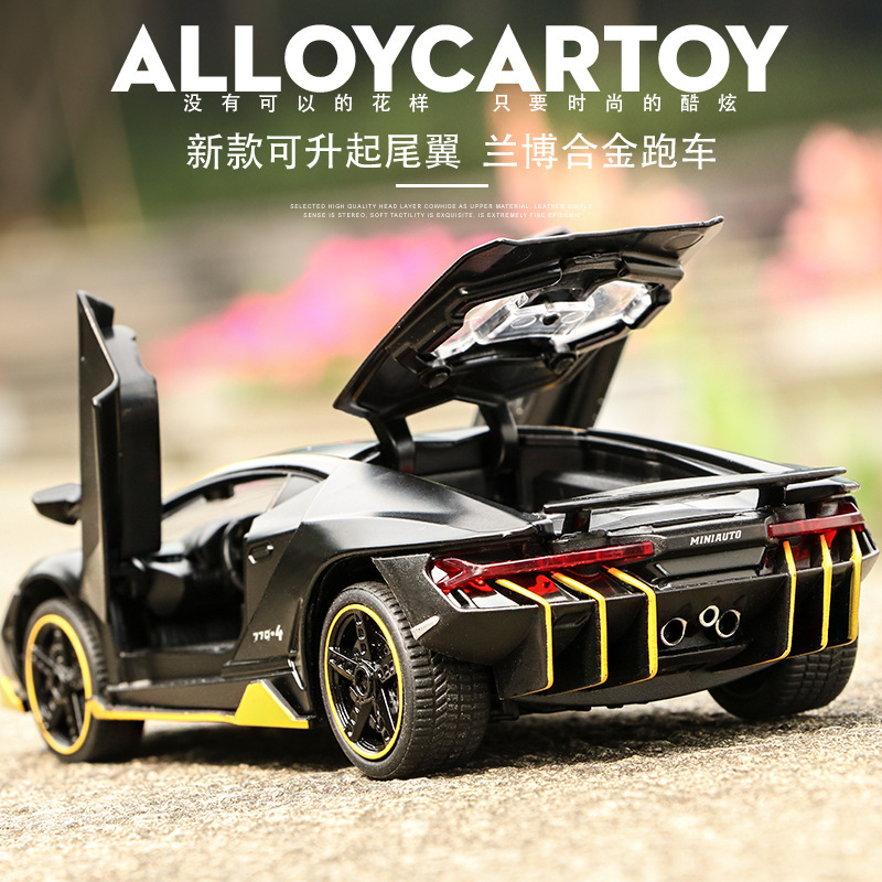 Scale 1:32 Alloy Sports Car Diecast Model Sound & Light Pull Back Cars Toy Children Birthday Hot Gift Wheel LP770