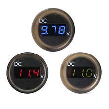 IP67 À Prova D' Água Display LED Painel Digital Medidor de Tensão DC 2.50-30 v Voltímetro para Carro RV Carro Stying Acessórios