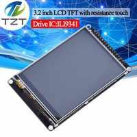 TZT 3.2 pouces LCD TFT avec écran tactile de résistance ILI9341 pour STM32F407VET6 carte de développement noir