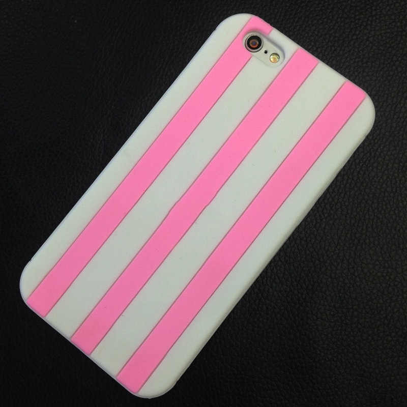 Telefoon case Voor iPhone 7 8 6Plus 5 Secret Pink Zachte Siliconen Streep Luxe Telefoon Case Voor iPhone7 7plus Sexy Fashion Victoria