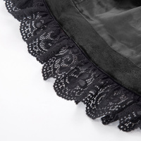 Women Vintage Jacket Lace Black Red Velvet Gothic Steampunk Devil Coat Costume