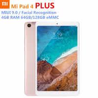 Multi-language Xiaomi Mi Pad 4 Plus Tablets Snapdragon 660 AIE 8620mAh 10.1'' 16:10 1920x1080 Screen 13MP 64GB/128GB PC LTE