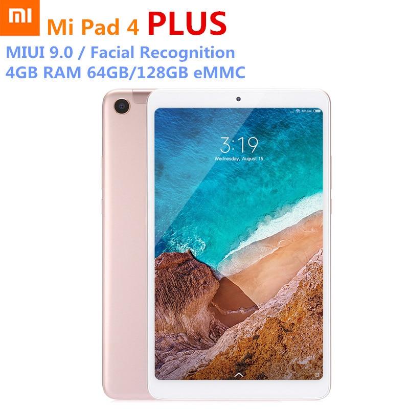 Multi-langue Xiao mi mi Pad 4 Plus Comprimés Snapdragon 660 AIE 8620 mAh 10.1 ''16:10 1920x1080 Écran 13MP 64 GB/128 GB PC LTE